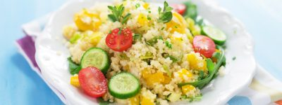 Healty salad with couscous and vegetables